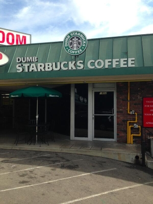 Dumb Starbucks Coffee shop opens in Los Feliz, CA
