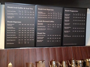 Dumb Starbucks Menu. Image Credit: Dumb Starbucks Coffee Twitter